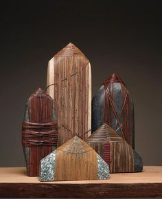 Deloss Webber is a Seattle artist specializing in mixed-media art usin Zen Rock, Rock Art, Stone Crafts, Rock Crafts, Stone World, Rock And Pebbles, Stone Wrapping, Land Art, Pebble Art
