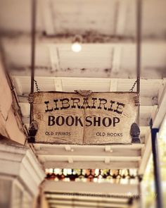 new orleans photography book lover photograph vintage sign decor chartres street new orleans art Librairie Bookshop by eireanneilis