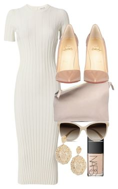 A fashion look from June 2017 featuring white short sleeve dress, christian louboutin pumps and pink clutches. Browse and shop related looks. Love Fashion, Korean Fashion, Winter Fashion, Fashion Looks, Womens Fashion, Classy Outfits, Stylish Outfits, Fashion Outfits, Fashion Trends