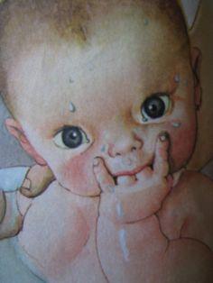 """llustration taken from """"Baby Dear"""" - by Esther Wilkin, illustrated by Eloise Wilkin. Golden Press, Wisconsin, 1962."""