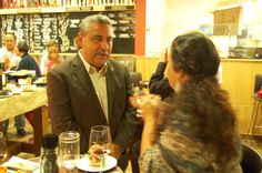 Baja Tourism Secretary Señor Tintos Funcke discusses the peninsula's future with journalists.
