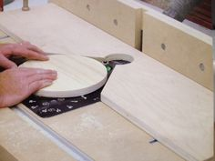"""This simple jig allows safe and effective edging or edge cleanup on all your circle cuts. You can also use it as the last stage in circle cutting starting with a router cut to a 1/4 """" depth then a rough jigsaw cut then this cleanup jig."""