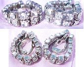 FUN Rhinestone WRAP-AROUND Clip Earrings! So Different & Sparkly From ALL Angles! by MarlosMarvelousFinds