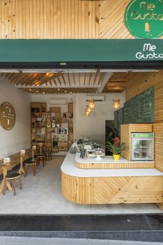 35 Ideas For Exterior Design Shop Decor Coffee Bar Design, Coffee Shop Interior Design, Small Restaurant Design, Restaurant Interior Design, Cafe Shop Design, Bakery Design, Cafe Restaurant, Juice Bar Interior, Juice Bar Design