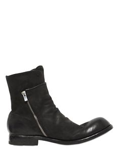 OFFICINE CREATIVE - ZIP-UP & ELASTIC LEATHER BOOTS