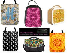 Tote bags, lunch boxes, neoprene bags, messenger bags for all occasions.