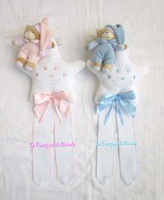 fiocco nascita stella con orsetto di peluche personalizzabile con nome punto croce; per info: http://lecreazionidimichela.it.gg/HOME.htm