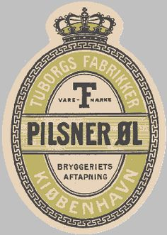 Early Tuborg Beer #label (1915)