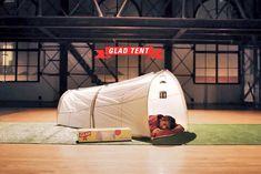 락페에서 텐트로 쓰고 대형 쓰레기봉투로 변신