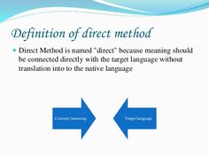 Image result for direct method Direct Method, Definitions, Meant To Be, Connection, Language, Names, Chart, Image, Languages