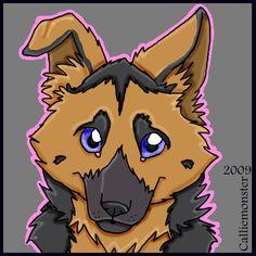 german+sheperd+cartoon | German Shepherd puppy cartoon by ~Canineescapade on deviantART