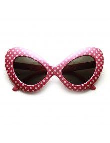 0b1557f0154af5 polka dot retro sunglasses Lunettes De Soleil Rétro, Lunettes De Soleil  Surdimensionnées, Lunettes De