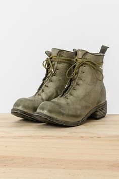 Guidi - lined full grain bison leather cross lace boot