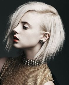 Asymmetrical Hair. I could never pull this off but it's so pretty