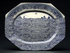 Paul Scott ceramics. Blue and white, transferware