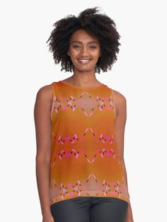 orange, pink, black, pattern design a combination ribbon swirl pattern design in a combination of trendy colors. • Also buy this artwork on apparel, phone cases, home decor, and more.