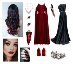 """""""Hellfire masquerade"""" by me1ody ❤ liked on Polyvore featuring BERRICLE, Elie Saab, New Directions, Bling Jewelry, Dita Von Teese and Masquerade"""