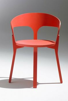 Wooden #chair CAL by Soca | #design Jérôme Gauthier #red