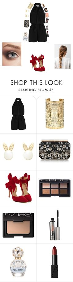 """""""Christmas Outfit #2"""" by enjoyvampire ❤ liked on Polyvore featuring Zimmermann, Forever 21, Lipsy, Oscar de la Renta, NARS Cosmetics, Benefit, Marc Jacobs, Urban Decay and Clinique"""