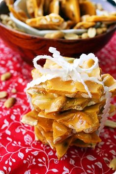 Peanut Brittle | The Comfort of Cooking  We made this on Thanksgiving!  Nom nom nom!
