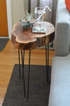 Trav find the top and use Steve's legs. Tree table with hair pin legs.