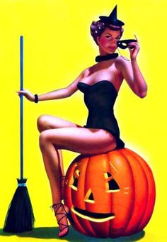 Halloween Pumpkin face paint Vintage halloween pin up Vintage Halloween Postcard . Halloween Pin Up, Retro Halloween, Photo Halloween, Halloween Forum, Halloween Pictures, Halloween Witches, Halloween 2020, Pin Up Vintage, Vintage Witch