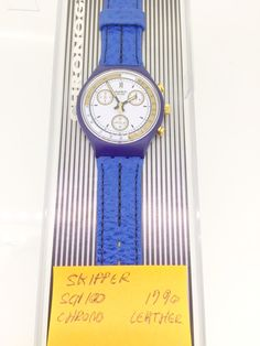 swatch watch Skipper SCN100 chrono 1990 new unused with original box quartz with papers by KGMDiamonds on Etsy