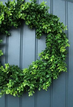 Check out this tutorial on how to make your own boxwood wreath.