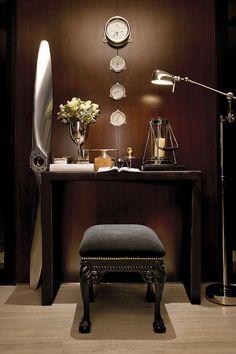 The Mill, Singapore, Kri-eit Associates Brown Interior, Interior And Exterior, Nautical Clocks, Masculine Interior, Dark Interiors, Interior Decorating, Interior Design, Contemporary Home Decor, Decoration