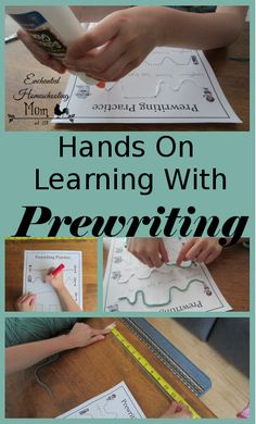 Hands On Learning With Prewriting - Enchanted Homeschooling Mom Preschool Education, Literacy Skills, Preschool Kindergarten, Preschool Learning, Preschool Activities, Motor Activities, Preschool Projects, Class Projects, Kids Crafts