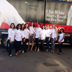 Looking lovely in your InStyle Essentials perfect white shirts, ladies! #InStyleEssentials #NYC