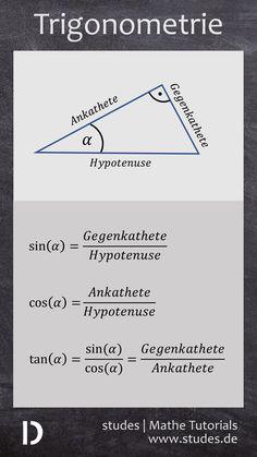 Trigonometrie: Sinus, Kosinus & Tangens   Mehr Spicker und Erklärungen auf studes.de