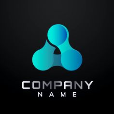 Gradient triangle molecule vector editable slogan logo design | premium image by rawpixel.com / Kappy Kappy Company Names, Business Logo, Brand Identity, Slogan, Brand Names, Badge, Triangle, Logo Design, Business Names