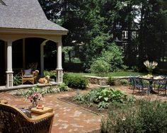 Cottage Style Brick Patio Design Ideas, Pictures, Remodel and Decor