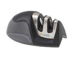 KitchenIQ 50009 Edge Grip 2 Stage Knife Sharpener, Black ...  http://amzn.to/2iecQNd