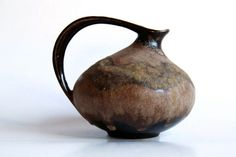 Vintage Brown Pitcher Ruscha 313 70s by 1001vintage on Etsy, $120.00