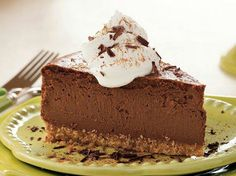 Mexican Chocolate Cheesecake- Planning a Mexican menu? Complete the meal with this heavenly cheesecake—the cinnamon and chili powder add authentic flavor. Chocolate Abuelita, Mexican Chocolate, Mexican Menu, Mexican Dessert Recipes, Dessert Ideas, Mexican Buffet, Mexican Night, Mexican Cheese, Mexican Dishes