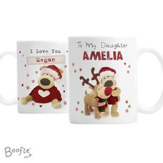 Boofle Christmas Mug from personalised-by-you.com - These charming BoofleMugs come in 2designs and feature your child's name on the front and a message on the back.