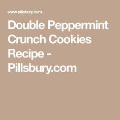 Double Peppermint Crunch Cookies Recipe - Pillsbury.com