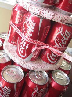 Soda Can Cake Stacked closeup