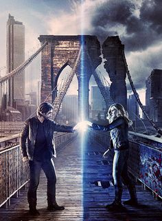 cole and cassie in season 2 poster of 12monkeys