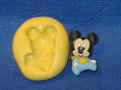 Baby Mickey 521 Push Mold Food Safe Silicone Cake Chocolate Resin Clay Baby shower Soap Candle by LobsterTailMolds on Etsy