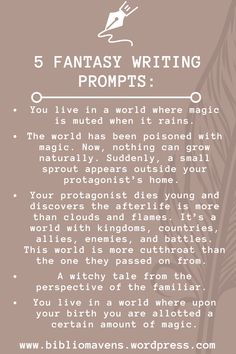Here are 5 fantasy writing prompts for your daily piece of writing inspiration. Check out our blog for more creative dialogue, sentence, and story prompts for writers of every genre.