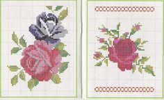 Art of embroidery Mini 70 Cross Stitch Rose, Cross Stitch Flowers, Cross Stitch Charts, Cross Stitch Embroidery, Cross Stitch Patterns, Bargello, Needlework, Projects To Try, Kids Rugs