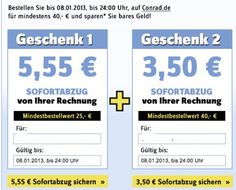 10,55€ Conrad Gutschein (MBW: 50€) und weitere Codes *UPDATE* - myDealZ.de