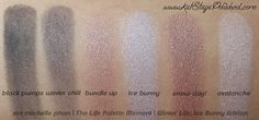 em michelle phan | The Life Palette Moments | Winter Life: Ice Bunny Edition - eye swatches @em cosmetics @Michelle Phan