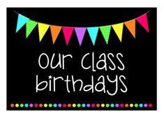 Birthday Chart Classroom, Classroom Banner, Birthday Charts, Classroom Quotes, Classroom Themes, Classroom Organization, Rainbow Flags, Rainbow Theme, Rainbow Birthday