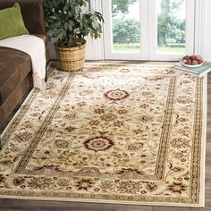"AmazonSmile: Safavieh Lyndhurst Collection LNH212L Traditional Oriental Ivory Area Rug (3'3"" x 5'3""): Kitchen & Dining"