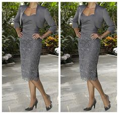 Stock Dusk Gray Sweetheart Mother of The Bride Dresses Free Bolero Size8 18 | eBay