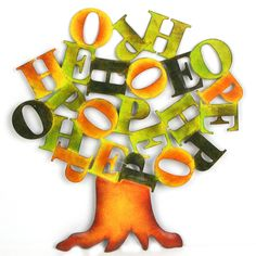 Have to have it. Hope Word Scrambler Metal Wall Art - 12W x 12H in. $31.99